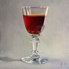 My Things, Antique Sherry Glass -- Liza Hirst