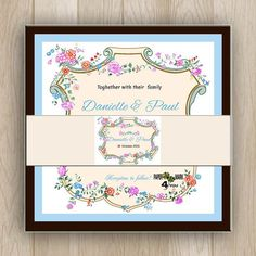 Items similar to Whimsical pretty vintage floral rustic wedding invitation with flowers, leaves and monogram Custom Design&Color on Request. Print at home. on Etsy Monograms, Vintage Floral, Rustic Wedding, Whimsical, Custom Design, Wedding Invitations, Leaves, Paper, Frame