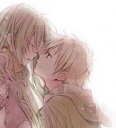 anime, love, and couple imageの画像