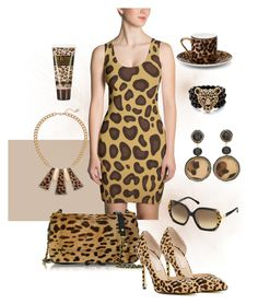 """""""Animal Print"""" by dogzprinted ❤ liked on Polyvore featuring Jérôme Dreyfuss, Roberto Cavalli, GUESS, Palm Beach Jewelry, Chico's and Asprey"""