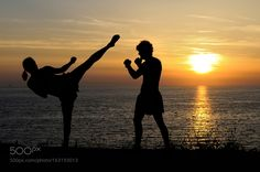 Kickboxing training by buraxta