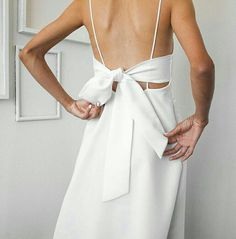 Try a beautiful back-tie white dress for an evening out this spring or summer. Let Daily Dress Me help you find the perfect outfit for whatever the weather! dailydressme.com/