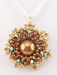 Beading Tutorial for Celestial Radiance Pendant by njdesigns1