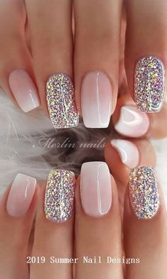 29 awesome and cute summer nails design ideas and pictures for 2019 - page 6 of 28 - daily wo . - 29 awesome and cute summer nails design ideas and pictures for 2019 – page 6 of 28 – daily wome - Cute Summer Nail Designs, Nail Design Spring, Cute Summer Nails, Summer Design, Nail Summer, Spring Summer, Light Spring, Bright Summer Gel Nails, Summer Nail Colors