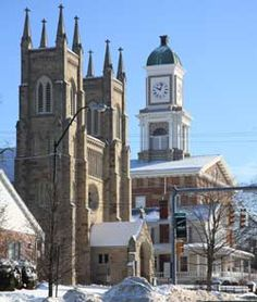 My Dad's church - St Pau'ls Episcopal, and the courthouse in Mt. Vernon, Ohio