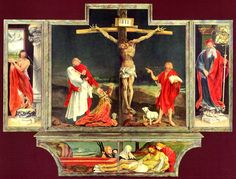 Isenheim Altarpiece, by Grunewald, Oil on Panel. Sacred Spaces, Humanity and Suffering, Religious Ritual, Death/Life
