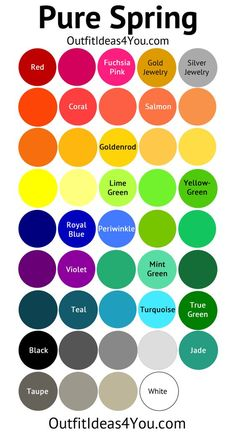 Pure Spring Color Palette (Clear Spring) | Spring Color Palette ...