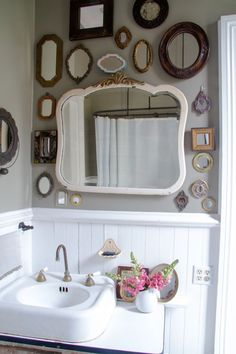 The mirror is a focal point of your bathroom. So, use your bathroom mirror to do more than reflect just your appearance, but to also reflect your overall design style.