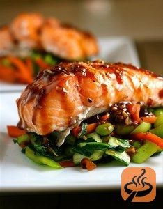 Asian Slow-Roasted Salmon recipe. Making my mouth water just looking at the pics!