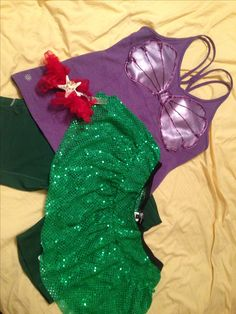 My 2014 Glass Slipper Challenge Ariel Costume for the Disney Princess Half Marathon !!!!!!!