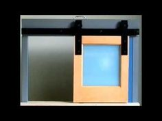 This tabletop demo unit shows how Goldberg Brothers barn door hardware works.