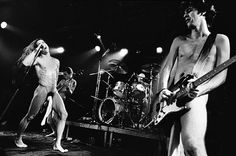 Red Hot Chili Peppers performing in the Netherlands in 1988 wearing only socks