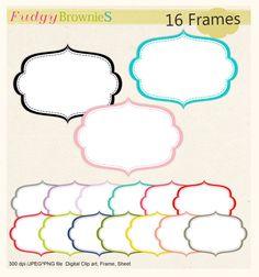 Digital frame,Frames clipart, stitch frame,digital scrapbooking frames.A-86 , INSTANT DOWNLOAD