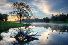County Park Lake in Jefferson City, Missouri by JJ Weislocher