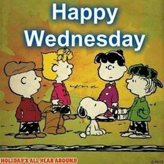Happy Wednesday Peanuts Gang Image good morning wednesday hump day wednesday…