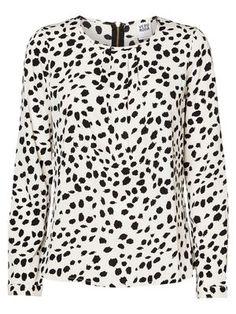 NEW JACKIE L/S AOP TOP  #print #shirt #VEROMODA  @VERO MODA