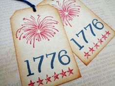 Fourth of July Tags 1776 Independence Day Celebration Party Favor Tag by PapergirlStudios on Etsy https://www.etsy.com/listing/237791546/fourth-of-july-tags-1776-independence