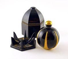 1925 J.Viard, Carege perfume bottle and stopper, black