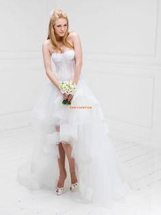 Padló hossza Fordított háromszög  Ujjatlan Menyasszonyi ruhák 2014
