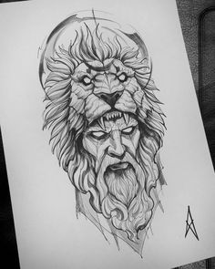 Image could contain: Drawing, # could . - Image could contain: drawing, tattoos god - Lion Sketch Tattoo, Lion Tattoo Design, Tattoo Sketches, Tattoo Drawings, Sketch Drawing, Tattoo Ink, Lion Tattoo Images, Sketch Tattoo Design, Zeus Tattoo