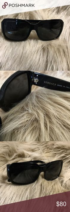 Versace Dark Sunglasses Versace Dark Sunglasses, gently used. Missing the original case. Smoke free home. Offers are welcome ! Versace Accessories Sunglasses