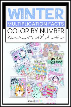 """WINTER Color By Number Multiplication Facts BUNDLE. 10 """"Color by Numbers"""" worksheets included for students to practice their multiplication facts (1-12) in the spirit of the WINTER SEASON! #3rdgrademathteks #4thgrademathteks #winter #holiday #worksheet 5th Grade Math Games, Multiplication Activities, Math Activities, Winter Holiday, Winter Season, Math Resources, School Resources, Math Fact Fluency, Math Poster"""