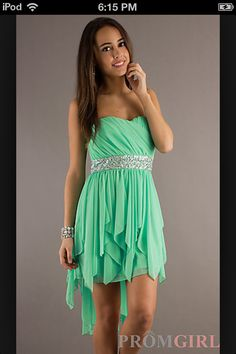 Prom Girl Strapless High Low Dress $79 For sure my Grad dress!! If I can get my size...