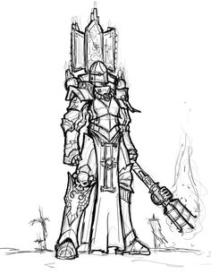 canoness imperium lineart portrait sarroz sisters_of_battle