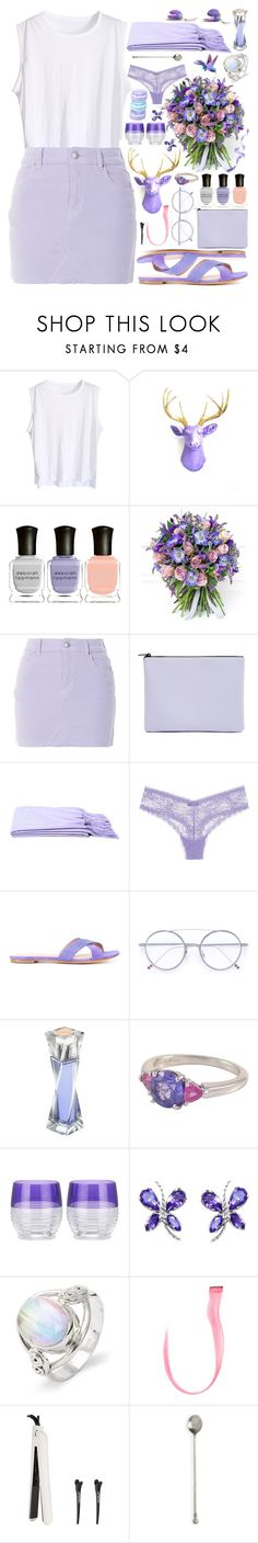 """see ya"" by grozdana-v ❤ liked on Polyvore featuring Deborah Lippmann, Philippa Craddock, Topshop, Forever 21, Cosabella, ALEXA WAGNER, Thom Browne, Lancôme, Tiffany & Co. and Waterford"