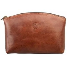 f116b5a7d25f Maxwell Scott Bags - The Chia Luxury Small Leather Make Up Bag Chestnut Tan