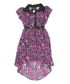 Look at this Fuchsia Floral Hi-Low Dress - Girls on #zulily today!