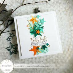 Gewinnen... Andreas Moritz, Christmas Crafts, Xmas, Star Cards, Scrapbook, Bunt, Stampin Up, November, Sketches