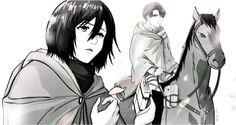 Levi Mikasa, Rivamika, Levi Ackerman, Eminem, Aesthetic Anime, Attack On Titan, Ships, Polyvore, Good Photos