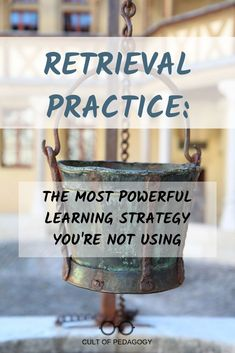 Make retrieval practice a regular part of classroom practice. New research reveals that nothing deepens learning as powerfully as retrieval practice. Teaching Writing, Teaching Strategies, Teaching Tips, Creative Teaching, Educational Leadership, Educational Technology, Classroom Organization, Classroom Management, Retrieval Practice