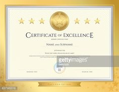 Certificate Template For Achievement Appreciation Or Completion