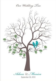 Wedding Guestbook alternative tree print Thumb by fancyprints... Love this idea!
