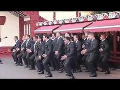 NZ All Blacks greet Maori King with massive Haka.