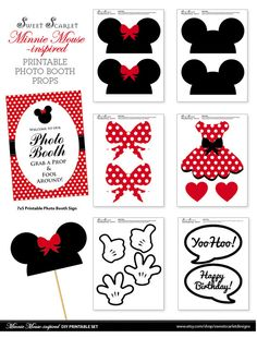 MINNIE Mouse Photo Booth puntelli in rosso di SweetScarletDesigns