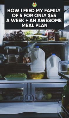 How to feed your family on the cheap with my tips on how I feed my family of 5 for less than $65 per week, and supplying you a meal plan and shopping list.
