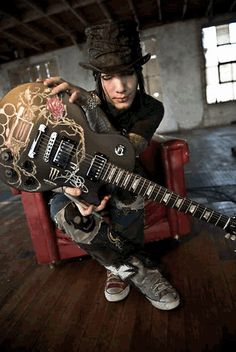 DJ Ashba, Designs and Autographs One of a Kind Gibson Les Paul for Music Saves Lives Auction.