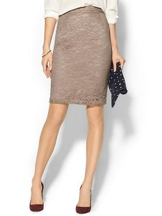 PIPERLIME COLLECTION Lace Pencil Skirt