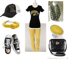 """Iowa Hawkeyes"" by trinagreat on Polyvore"