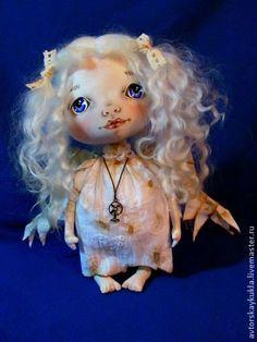 Ангел. - белый,ангел,кукла,авторская кукла,ангелок,текстильная кукла,интерьерная кукла