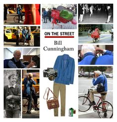 """""""Celebrity Style: Bill Cunningham"""" by polyvore-editorial ❤ liked on Polyvore featuring Burberry, Acne Studios, Nikon, Mulberry and bill cunningham"""