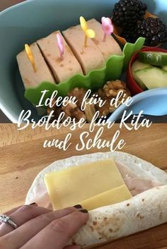 Ideen für die Brotdose: Leckeres für Schule und Kita Delicious and varied ideas for the lunchbox for kindergarten and school The post Ideas for the Lunch Box: Delicious food for the school and kindergarten appeared first on Leanna Toothaker. Food To Go, Good Food, Food And Drink, Yummy Food, Lunch Snacks, Lunch Box, Bento Box, Baby Food Recipes, Gourmet Recipes