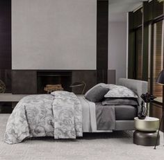 Elevate your bedroom style with the new collection of #Sferra. Linens now available at #BedsideManorHome.
