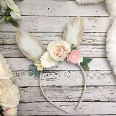 Bunny Ears Headband, Bunny Costume, Bunny Headband , Baby Bunny Ears , Easter Headband, Rabbit Headband, Floral Crown by VivibellesBows on Etsy https://www.etsy.com/listing/588931645/bunny-ears-headband-bunny-costume-bunny