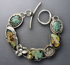 Boulder Opal and Turquoise Bracelet