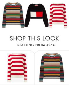 """""""свитера"""" by partners-ko on Polyvore featuring мода, Holiday, Allude и Hilfiger Collection"""