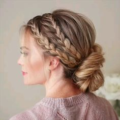 Beautiful braid hair tutorial. DIY Hairstyle
